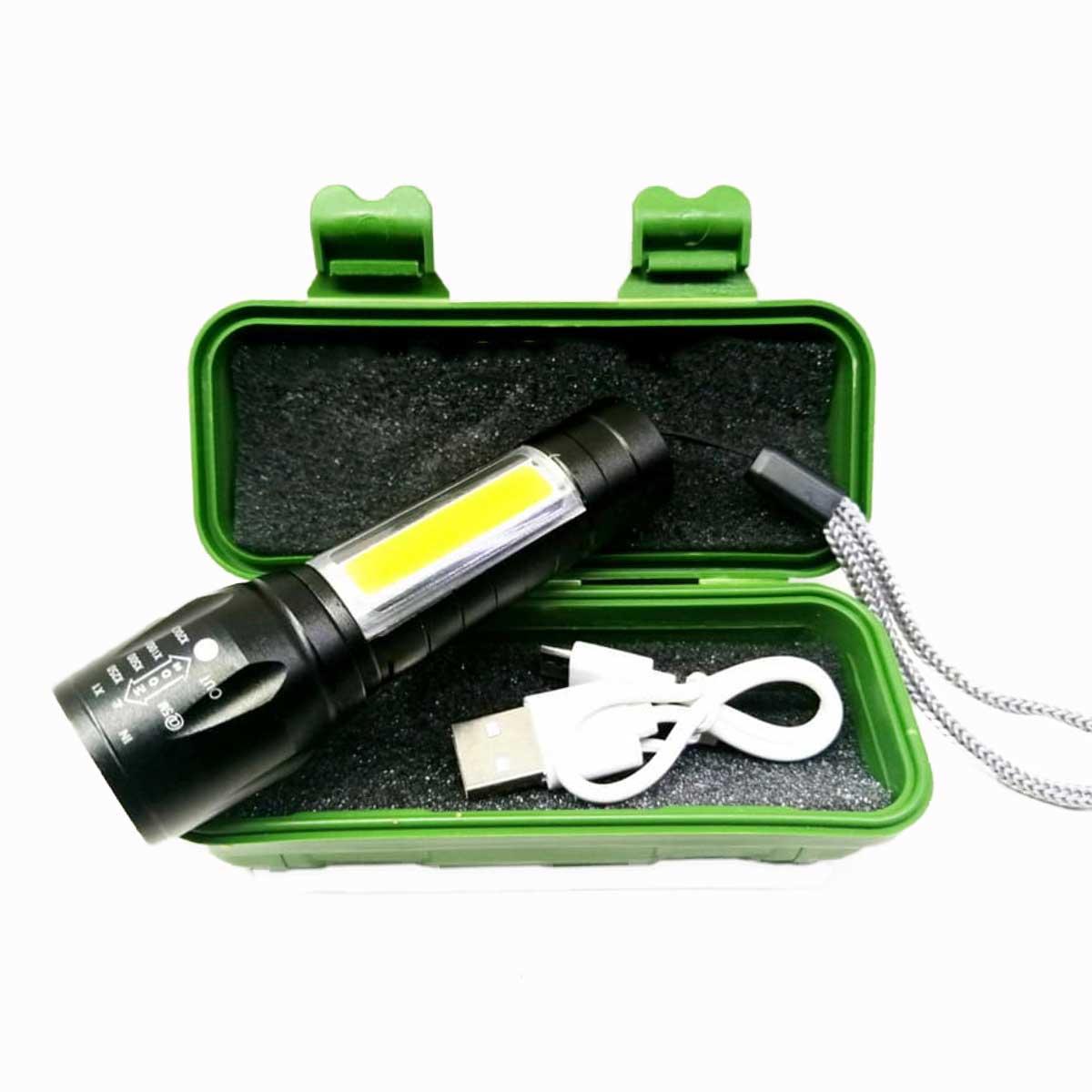 Επαναφορτιζόμενος Φακός LED CREE 3W ZOOM