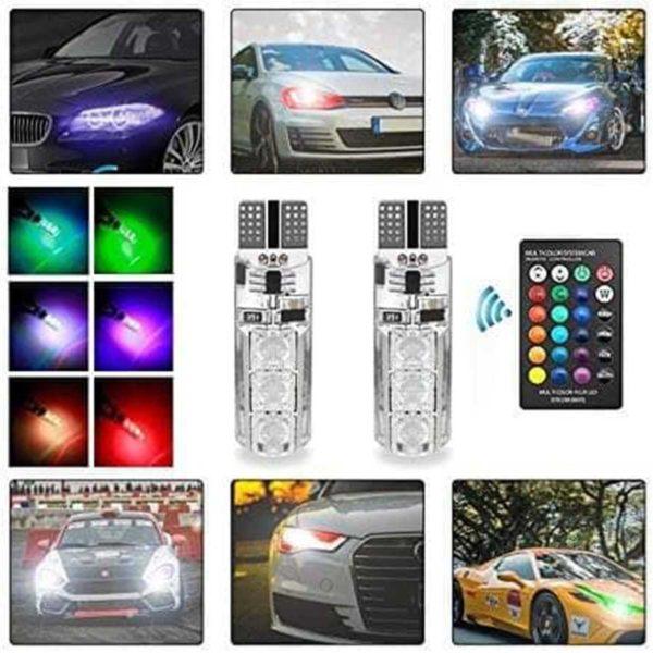 Ψείρες LED t10 RGB με Ασύρματο Τηλεχειρισμό
