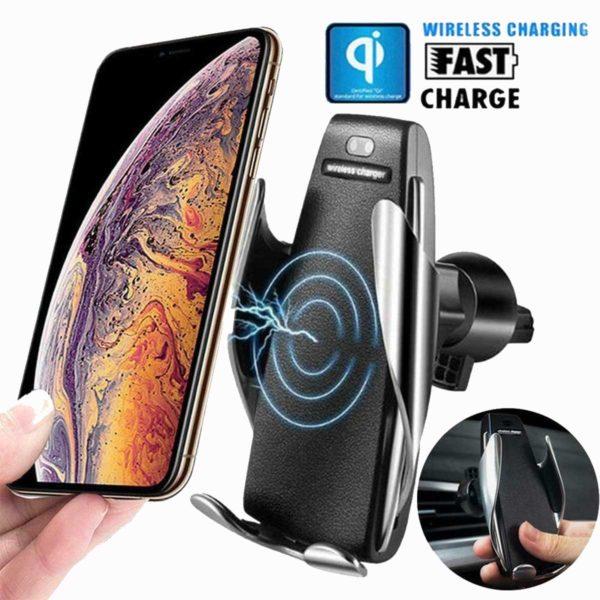 Έξυπνος Ασύρματος Φορτιστής με Αυτόματο Κλιπ & Βάση Στήριξης Τηλεφώνου – Smart Sensor Car Wireless Charger