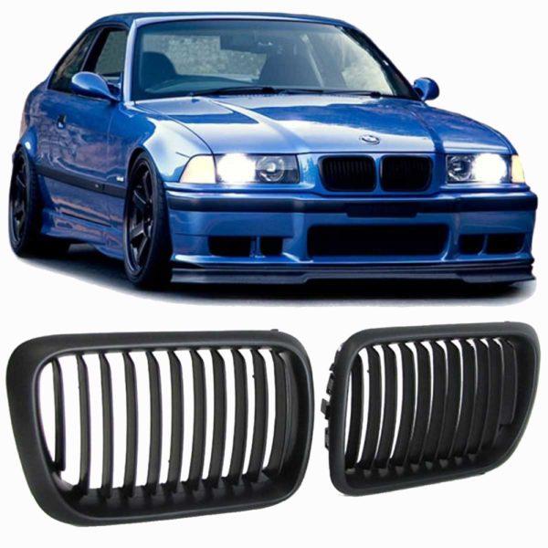 Καρδιές BMW E36 Μαύρο Ματ Facelift