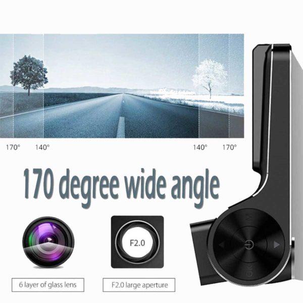 Τριπλό Καταγραφικό Αυτοκινήτου Full HD 1080p HDR 15MP με 2 x Κάμερες