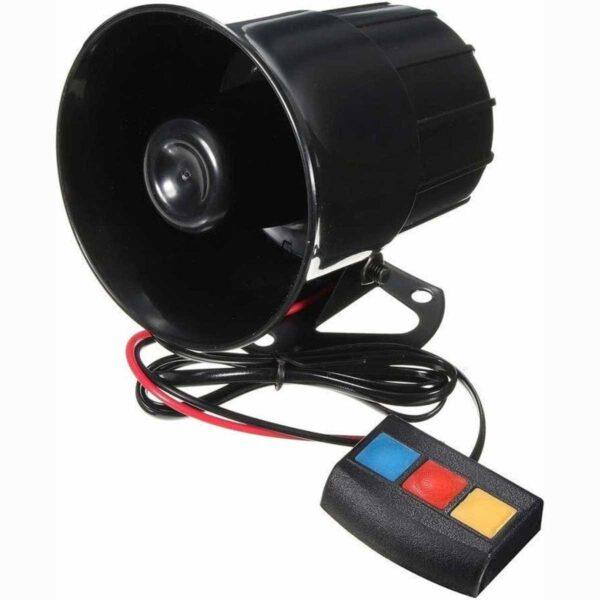 Σειρήνα & Κόρνα Αυτοκινήτου 30 Watt – 12V Με 3 Διαφορετικούς Ήχους