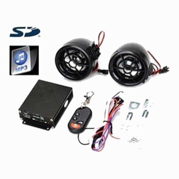 Συναγερμός Μοτοσυκλέτας Με Τηλεχειριστήριο USB/SD Mp3 Player – FM Radio