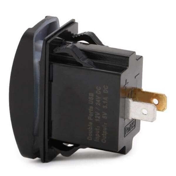 Υποδοχή Φορτιστή USB Διπλής Θύρας