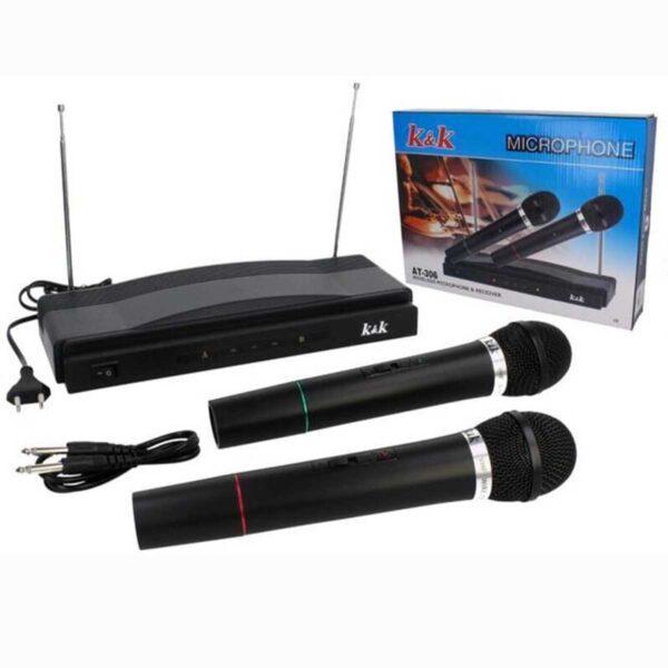 Συσκευή Karaoke Με Δύο Ασύρματα Μικρόφωνα Wireless K&K