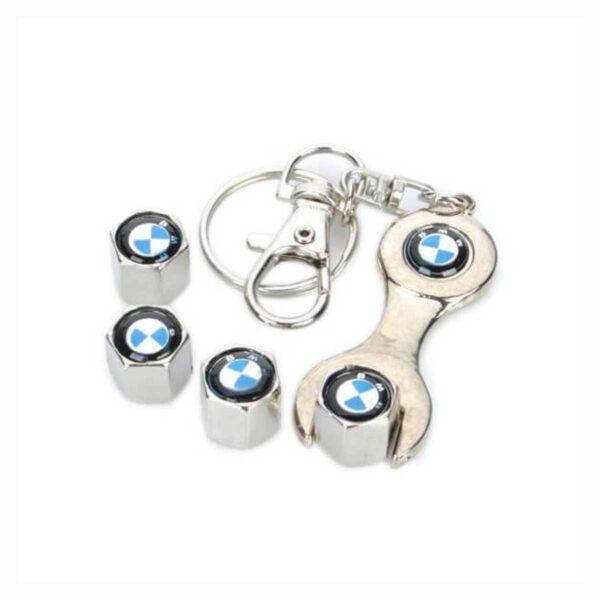 Σετ Τάπες Βαλβίδων Αυτοκίνητου Και Μπρελόκ Με Λογότυπο BMW