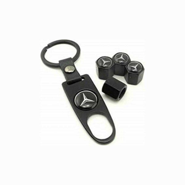Σετ Τάπες Βαλβίδων Αυτοκίνητου Και Μπρελόκ Με Λογότυπο Mercedes